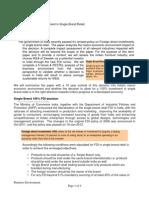 FDI in SBR-Public