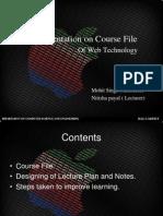 A Presentation on Course File 1