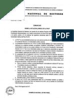 Comunicado de la ANR sobre situación jurídica de la PUCP