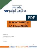 Tema Monitoreo y Evaluacion Tercera y Cuarta Semanas