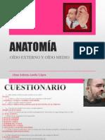 ANATOMÍA OÍDO EXTERNO Y MEDIO