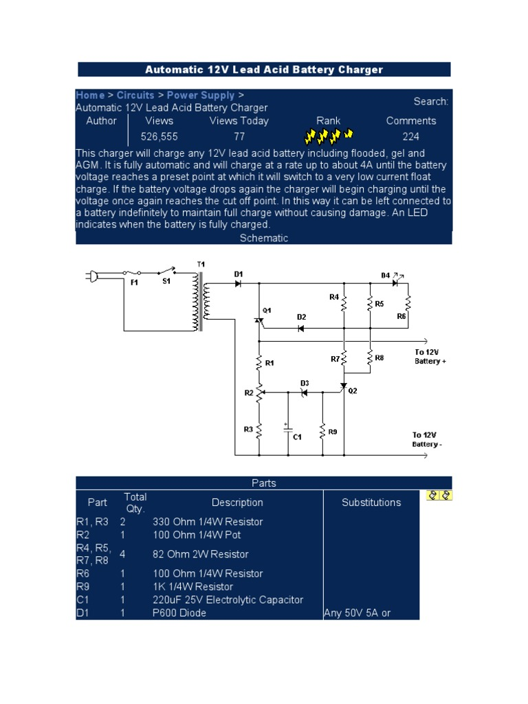12v Battery Chargers Power Supply Charger Desulfator Circuit Diagram