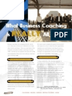 What Business Coaching is Really All About.