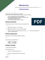 Descrizione Comandi Java