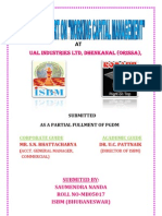 Working Capital Management of Ual Industries Ltd.