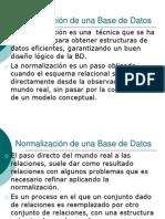 Normalización de una Base de Datos