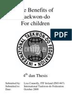 The Benefits of Taekwon-Do for Children