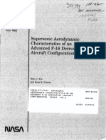 Supersonic Aerodynamic Characteristics of an Advanced F-16 (1993)