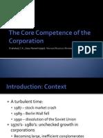 Core Competence