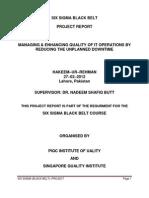 Six Sigma (Black Belt) Project (Hakeem-Ur-Rehman)