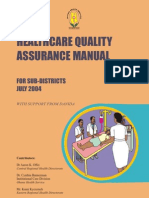 Healthcare Quality Assurance Manual