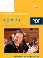 Liberal Democrat Autumn Conference Agenda 2012