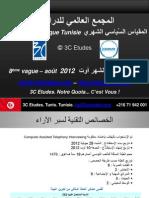 3C Etudes - Résultats Baromètre Politique Tunisie vague 8 - août 2012
