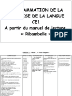 Progammation Ribmabelle Rouge Ce1