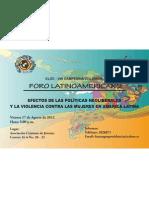 Foro- Efectos de las políticas Neoliberales y Violencia contra las Mujeres en AL-