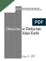 dünyanın ve türkiyenin yakın tarihi