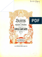 Saint-Saens - Op. 16 Suite for Cello and Piano