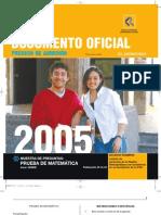 Muestras Preguntas Matematica 2004
