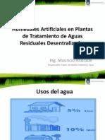Humedales Artificiales en Plantas de Tratamiento de Aguas