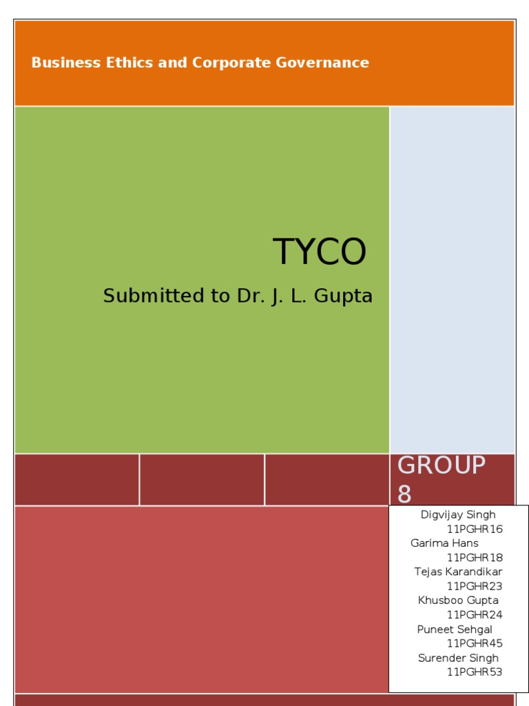 tyco corporate governance