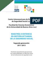 Maestria Actuaria Seguridad Social