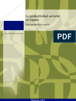 La Productividad Sectorial en España