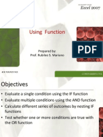 Excel if Function-observation