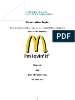 How special promotions can increase sales? (Case study of a selected McDonald's)