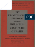 Auswaertiges Amt - Ein Franzoesischer Diplomat Ueber Die Bolschewistische Gefahr (1943, 186 S., Scan)