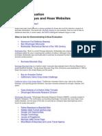 critical evaluation websites-bogushoax