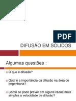 Difusao Em Solidos-2011