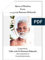 Bytes of Wisdom from Sri Ramana Maharshi