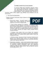 Konsep Dasar Pengambilan Keputusan Manajemen