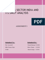 BANKING Sector India and Swot analysis