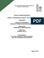 Métodos y Técnicas de Investigación I- 2013-1