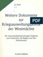 Auswaertiges Amt - Weissbuch Nr. 5 - Weitere Dokumente Zur Kriegsausweitungspolitik Der Westmaechte (1940-1995, 107 S., Scan)