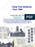 Charles Tang Tran-America Tour 1984