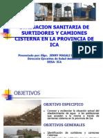 Evaluación sanitaria de surtidores y camiones cisterna en la provincia de Ica