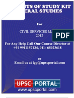 Contents Details of General Studies Mains Www.upscportal