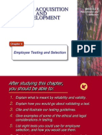 Employee Testing and Selection