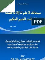 Establishing Jaw Relation