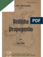 Baehr, Hans - Britische Propaganda (1940, 91 S., Scan, Fraktur)