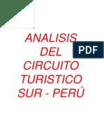 Graficos Operacion de Circuitos Turisticos en Base a Atractivos Turisticos