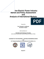 PH Electric Power Industry Market and Policy Assessment