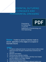 Periodontal Suturing Techniques and Periodontal Dressing