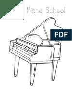 Piano Colouring Worksheets