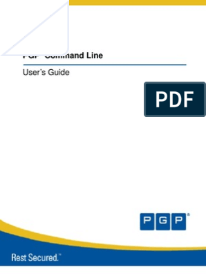 PGP Command Line: User's Guide