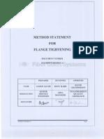Method Statement for Falnge Tightening0001