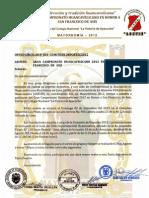 Invitación-Gran Campeonato Huancavelicano 2012 en Honor a San Francisco de Asis