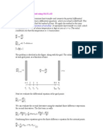 Finite Difference Method Using MATLAB